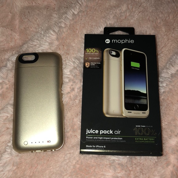 mophie accessories iphone 6 gold juice pack air 100 poshmark